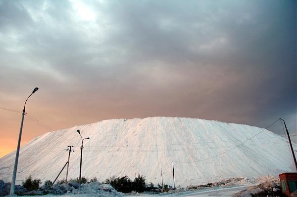 Белая гора фосфогипса